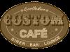 custom cafe logo sepia